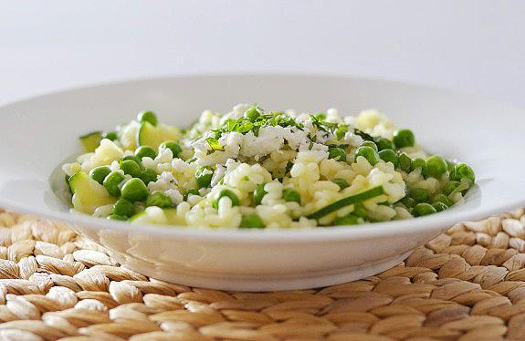 Pea and Zucchini Risotto