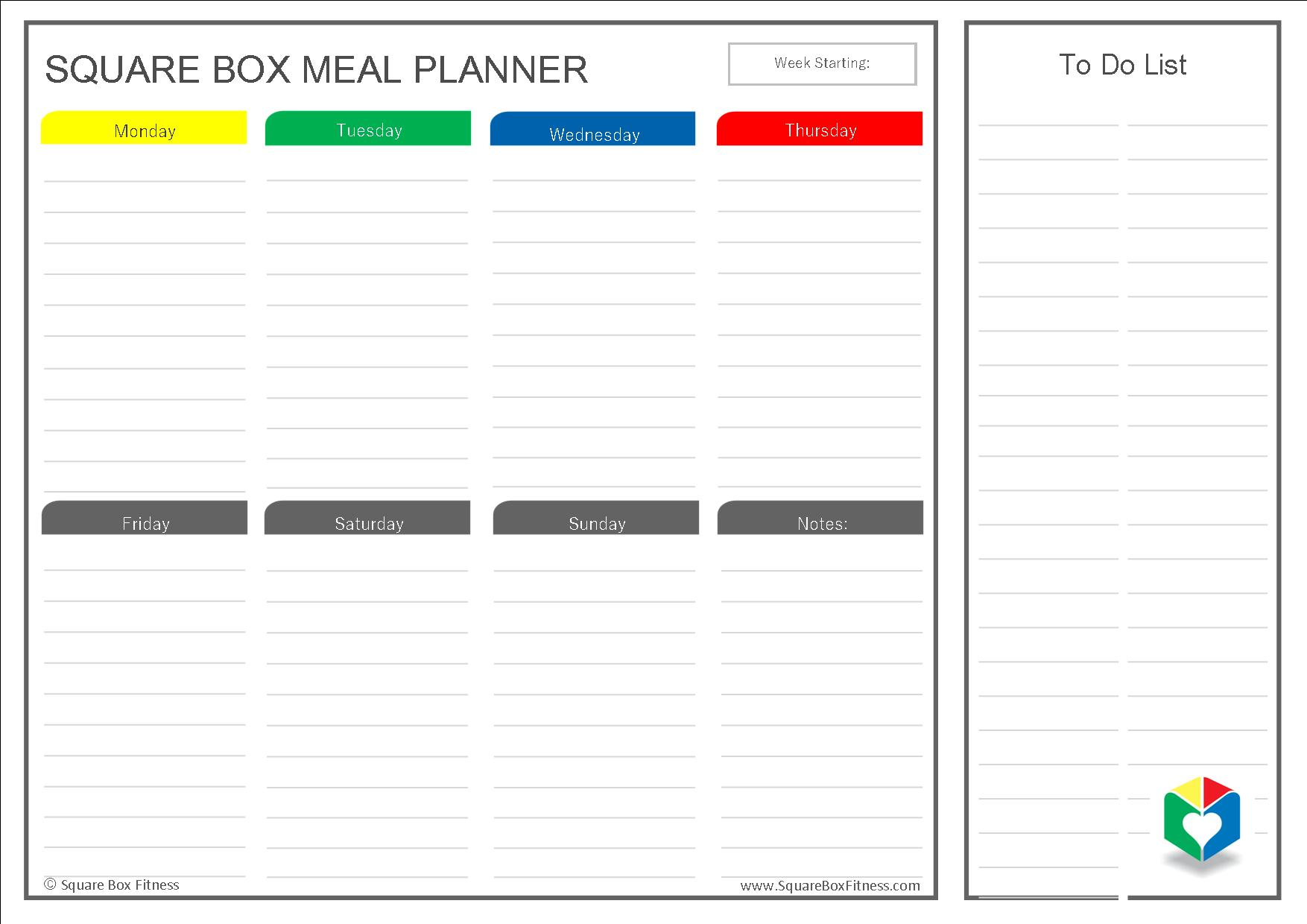Meal Planner Template Download FREE