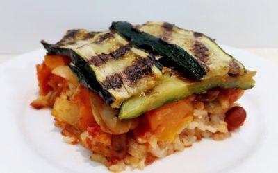 Zucchini Topped Risotto