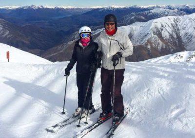 Jenny Skiing in Cardrona