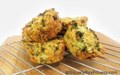 Broccoli, Cheese and Quinoa Snacks