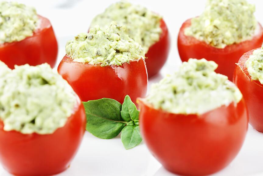 Ricotta and Pesto Stuffed Tomatoes