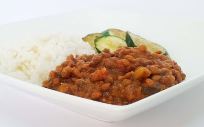 Red Lentils & Eggplant Casserole