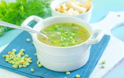 Green Split Pea and Yellow Turnip (Swede) Soup
